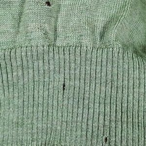 Ermenegildo Zegna Sweaters - Ermenegildo Zegna Green Mens V-neck Wool Sweater